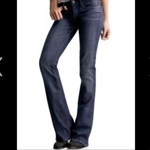 EUC J.crew hipslung dark blue jeans size 27